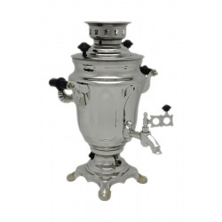 Electric samovar 1,5 liters «Tulip» nickel-plated (with automatic power off)