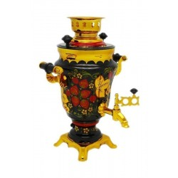 Electric samovar 1,5 liters «Tulip» with painting «Khokhloma»