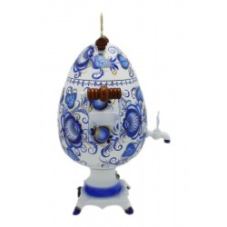 Electric samovar 2,7 liters «Egg» with painting «Gzhel» (with automatic power off)