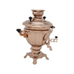Electric samovar 2 liters «Peg top» copperplated (with automatic power off)