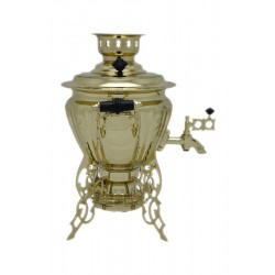 Electric samovar 1,5 liters «Peg top - spider» with shine coating