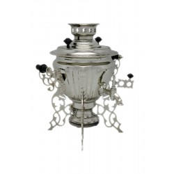 Electric samovar 2 liters «Peg top - Spider» nickel-plated