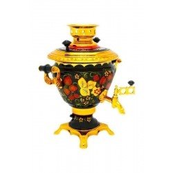Electric samovar 2 liters «Peg top» with painting «Khokholoma»