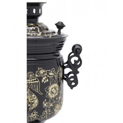 Electric samovar 3 liters «Jar » in a set with chasing «The Golden Bird»