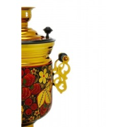 Electric samovar 3 liters «Jar» in a set with painting «Khokhloma» (with automatic power off)