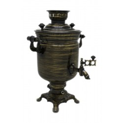 Electric samovar 3 liters «Jar» with painting «Gold threads» (with automatic power off)