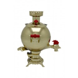 Electric samovar 3 liters «Ball» Cock with shine coating