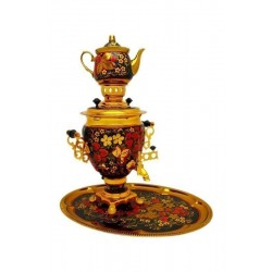 Electric samovar 3 liters «Acorn» in a set with painting «Khokhloma»