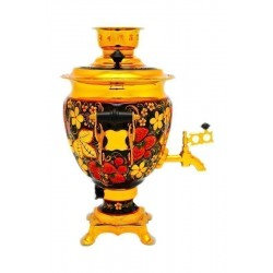 Electric samovar 3 liters «Acorn» with painting «Khokhloma»