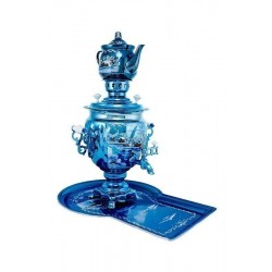 Electric samovar 3 liters «Acorn» in a set with painting «Winter night»