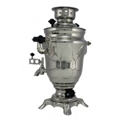 Electric samovar 1,5 liters «Tulip» nickel-plated
