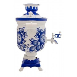 Electric samovar 3 liters «Jar» with painting «Gzhel» (with automatic power off)