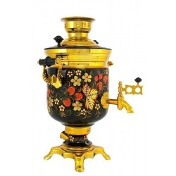 Electric samovar 3 liters «Jar» with painting «Classic khokhloma» (with automatic power off)