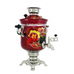 Electric samovar 3 liters «Jar» with painting «Kudrina»