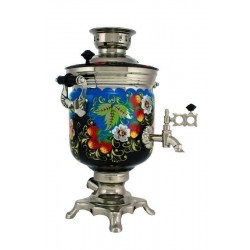 Electric samovar 3 liters «Jar» with painting «Forest glade»