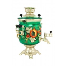 Electric samovar 3 liters «Jar» with painting «Papevers»
