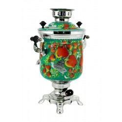 Electric samovar 3 liters «Jar» with painting «Apples» (with automatic power off)