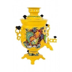 Electric samovar 3 liters «Jar» with painting «Rural»