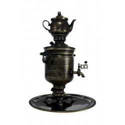 Electric samovar 3 liters «Jar» in a set with painting «Gold threads»
