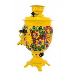 Electric samovar 3 liters «Acorn» with painting «Rural»