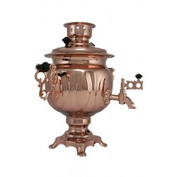 Electric samovar 3 liters «Oval» copperplated (with automatic power off)