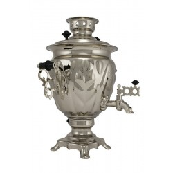 Electric samovar 3 liters «Acorn» nickel-plated