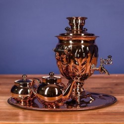 Electric samovar 3 liters «Acorn» copperplated (with automatic power off)