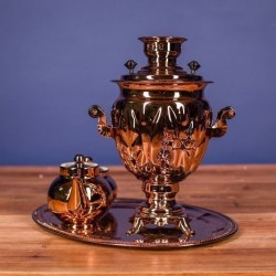 Electric samovar 3 liters «Acorn» copperplated