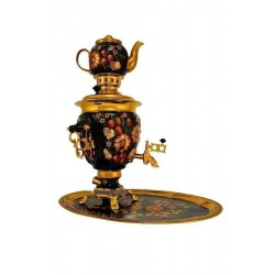 Electric samovar 3 liters «Acorn» in a set with painting «Apple pattern»
