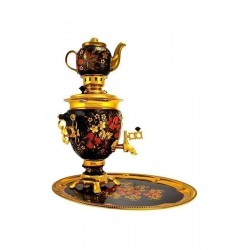 Electric samovar 3 liters «Acorn» in a set with painting «Classic khokhloma» (with automatic power off)