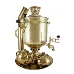 Charcoal-burning samovar 7 liters «Classic» in set «Gift»
