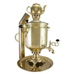 Charcoal-burning samovar 2,5 liters «Classic» in a set «Present»