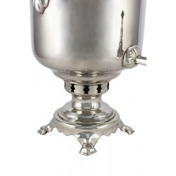 Charcoal-burning samovar 5 liters «Original»in a set «Present», nickel