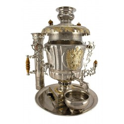 "Combined samovar in a set 7 liters ""Russia"""