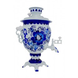 Electric samovar 3 liters «Acorn» with painting «Gzhel» (with automatic power off)