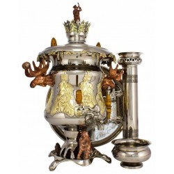 Charcoal-burning samovar «Hunter's trophy»