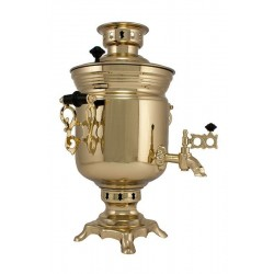 Charcoal-burning samovar 2,5 liters «Jar» in a set «Present»