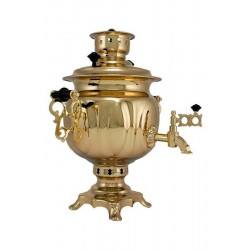 Charcoal-burning samovar 2,5 liters «Round»