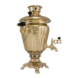 Charcoal-burning samovar 2,5 liters «Practical»in a set «Presenrt»