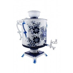 Electric samovar 25 liters «Butlery» with painting «Gzhel» (with automatic power off)