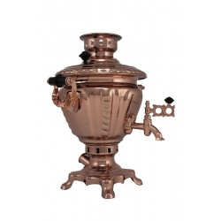 Electric samovar 2 liters «Peg top» copperplated