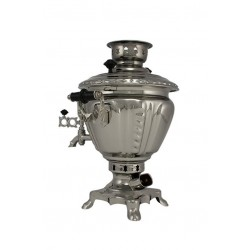 Electric samovar 2 liters «Peg top» nickel-plated
