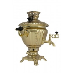 Electric samovar 2 liters «Peg top» with shine coating