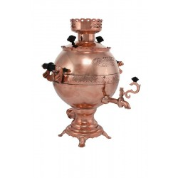 Electric samovar 3 liters «Ball» copperplated