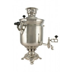 Charcoal-burning samovar 5 liters «Original», nickel
