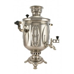 "Combined samovar 5 liters ""Leaf"" nickel"
