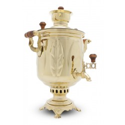 Charcoal-burning samovar 5 liters «Oak grove»