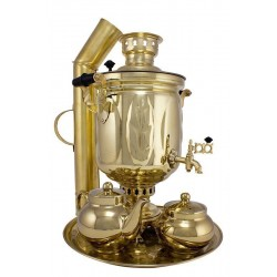 Charcoal-burning samovar 5 liters «Oak grove»in a set «Present»