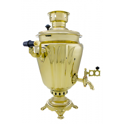 Charcoal-burning samovar 5 liters «Cut - glass wine-glass» second quality