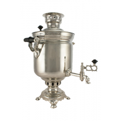 Charcoal-burning samovar 7 liters «Original», nickel